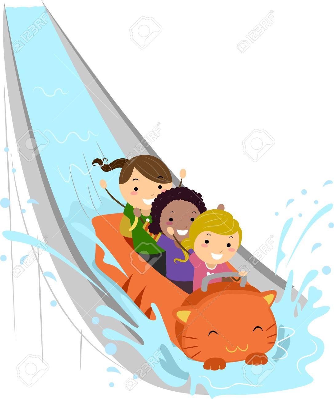 Kids Enjoying A Water Ride-Kids Enjoying a Water Ride-5