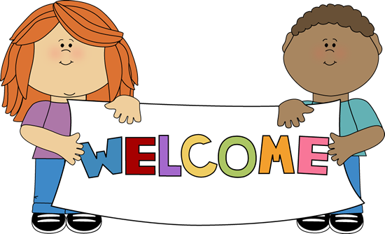 Kids Holding a Welcome Sign - School Children Clipart
