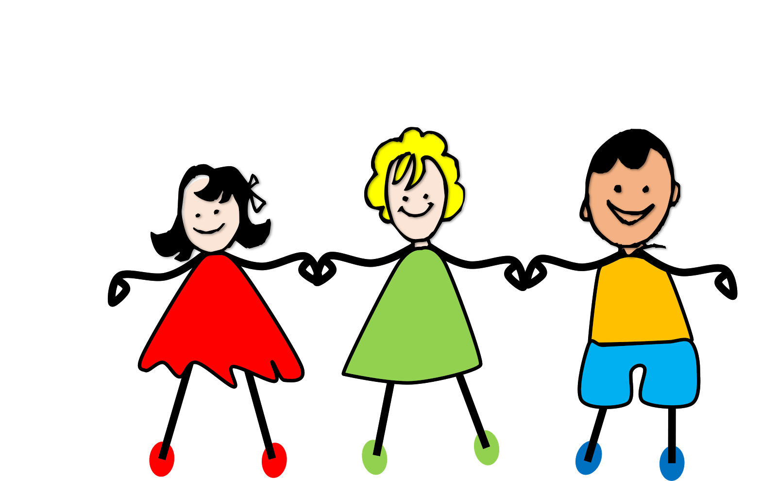 Kids holding hand clipart - .