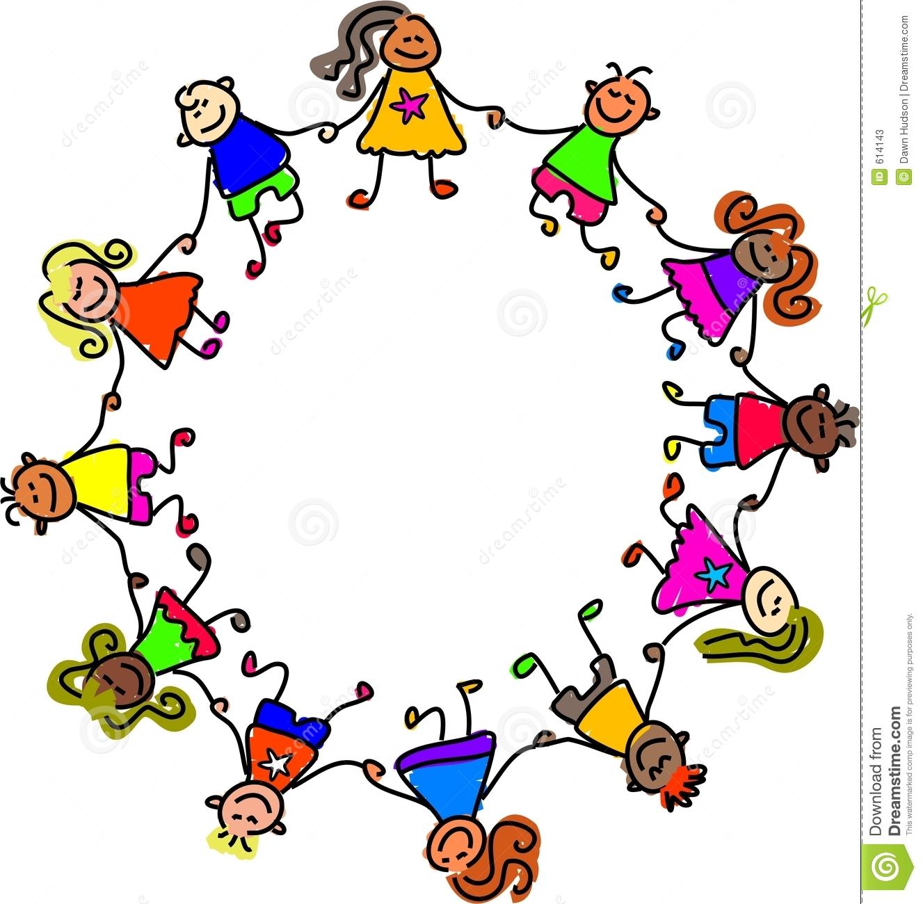 Kids Holding Hands Clipart United Kids 614143 Jpg
