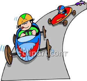 Kids In a Soap Box Car Race .-Kids In a Soap Box Car Race .-8
