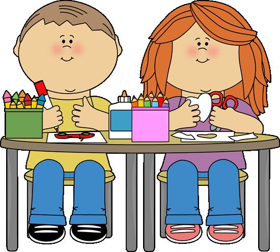 Kids in Art Class - Class Clip Art