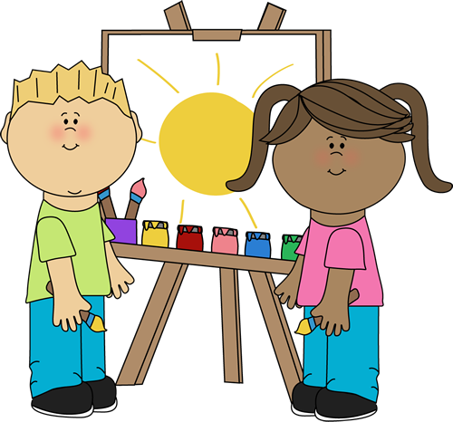 Kids in Art Class u0026middot; Kids Painting on Easel