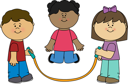 Kids Jumping Rope Clip Art