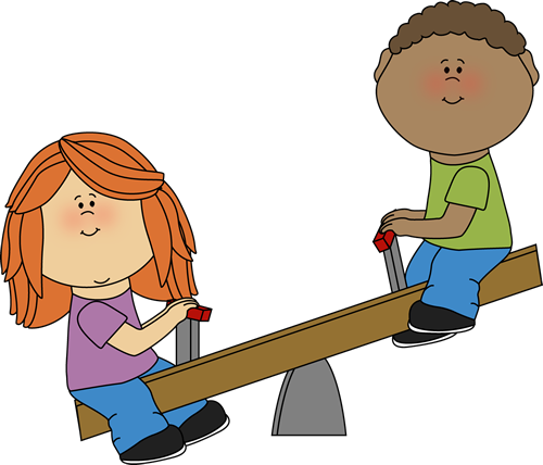 Kids on a Teeter Totter
