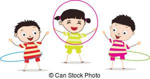 ... Kids Playing,Hula Hoop