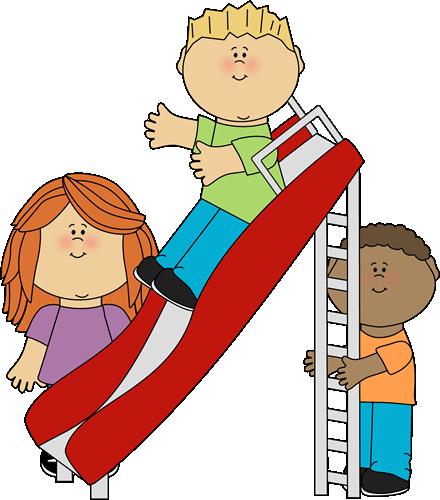 Kids Playing On A Slide-Kids Playing on a Slide-18