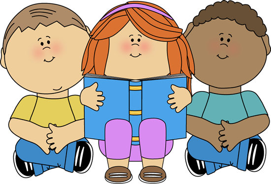 Kids Reading Clip Art - Kids Reading Image