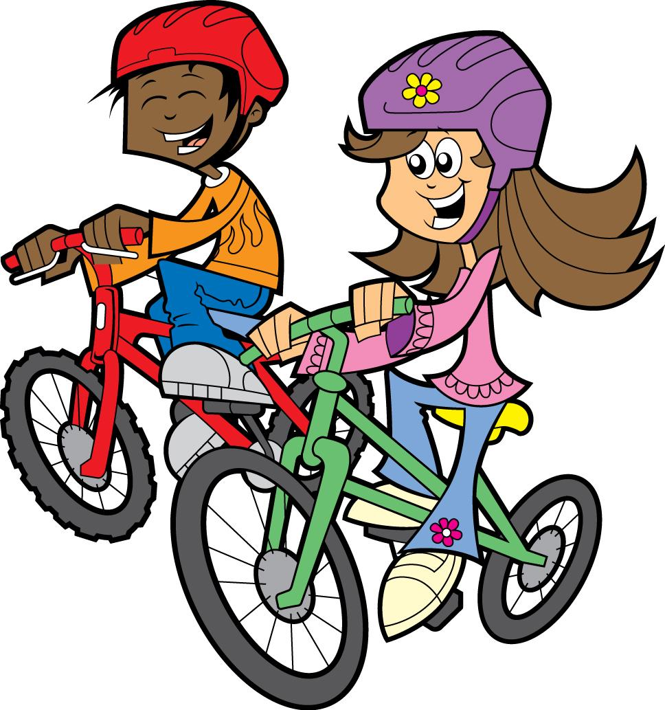 Kids Riding Bikes Clipart Clipart Panda Free Clipart Images