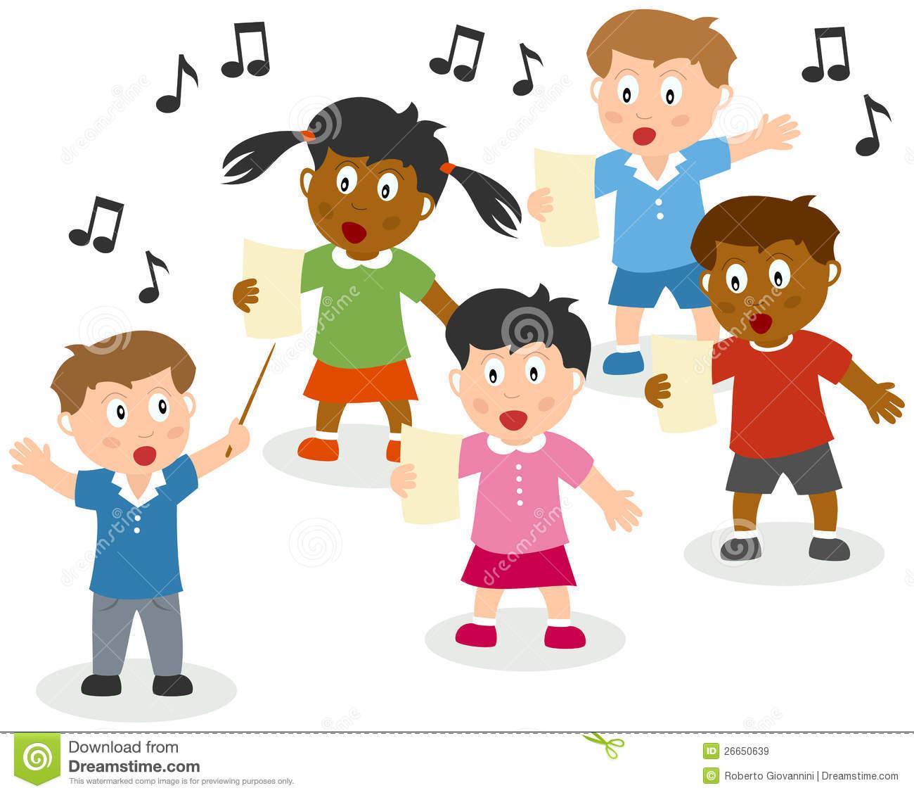 Kids Singing Clipart Kids Singing 26650639 Jpg