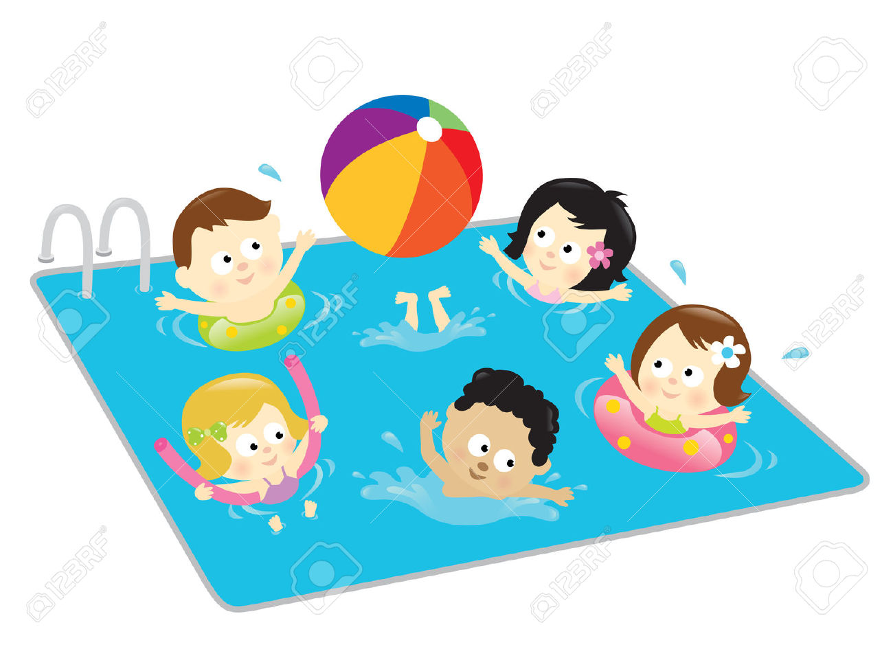 Kids Swimming Clipart Free