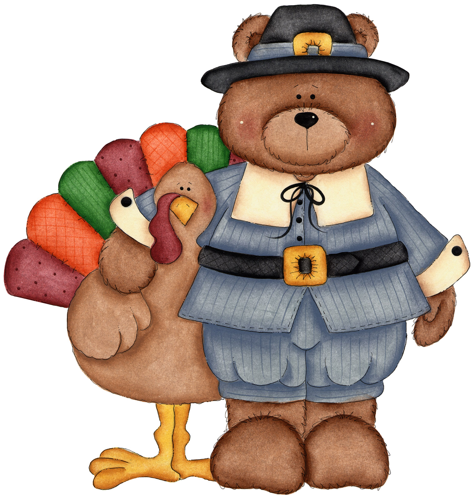 Kids Thanksgiving Clipart .