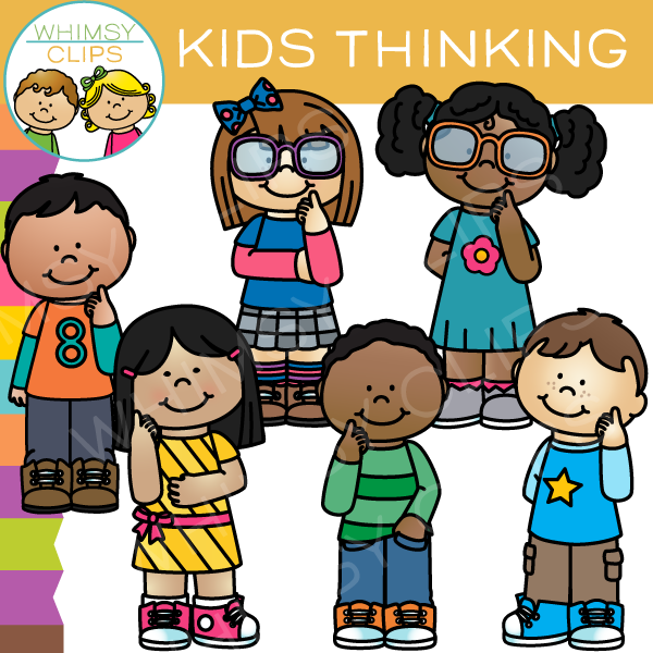 Kids Thinking Clip Art