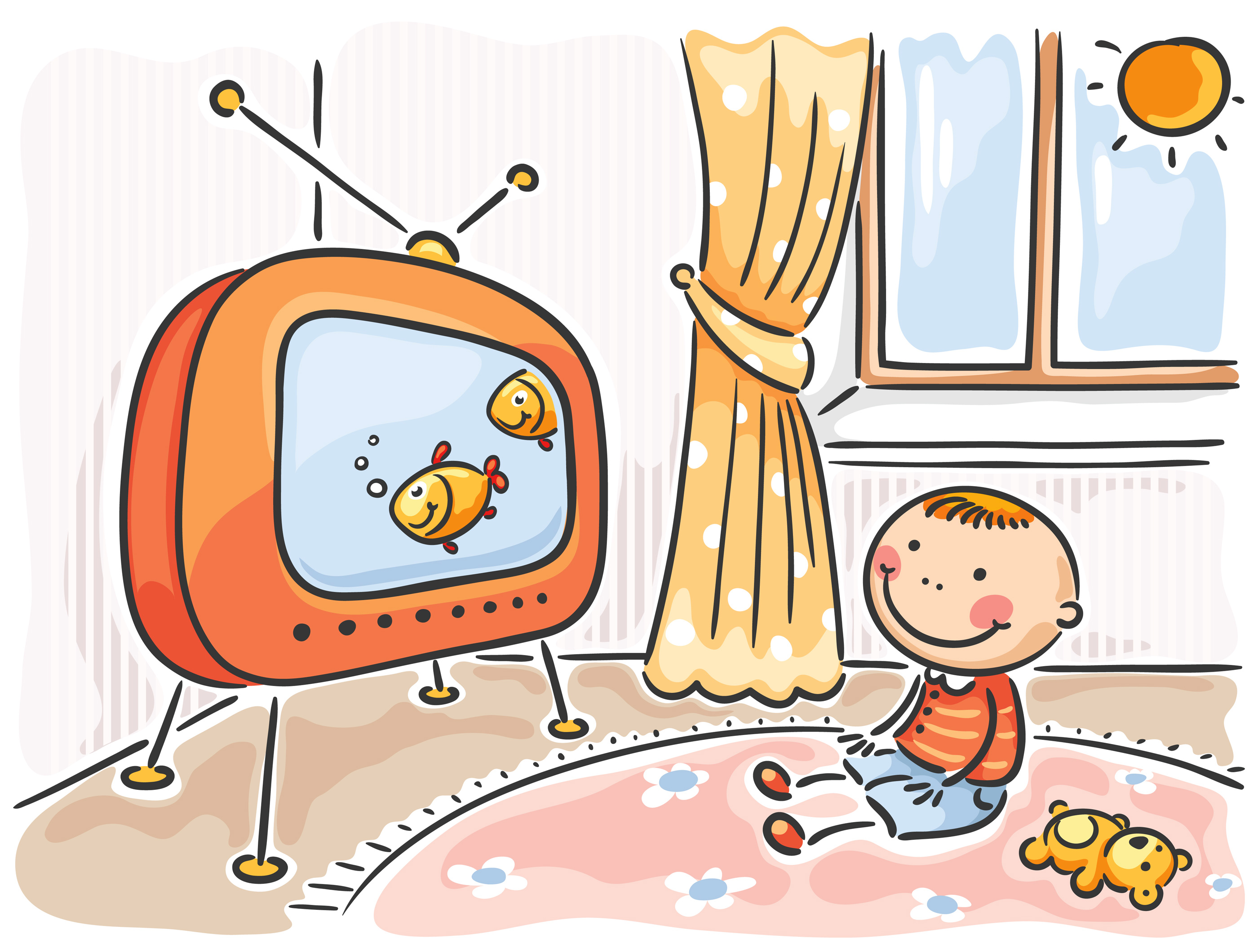Kids Watch Tv Clipart All The Gallery You Need