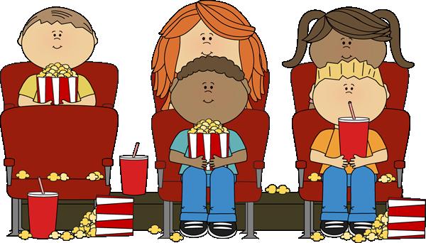 Kids Watching Movie In Theater Clip Art -kids watching movie in theater clip art kids watching movie in-4