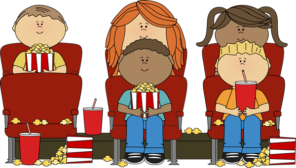 Kids Watching Movie in Theater