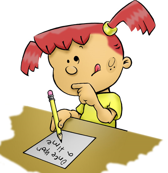 Kids writing clipart 2-Kids writing clipart 2-7