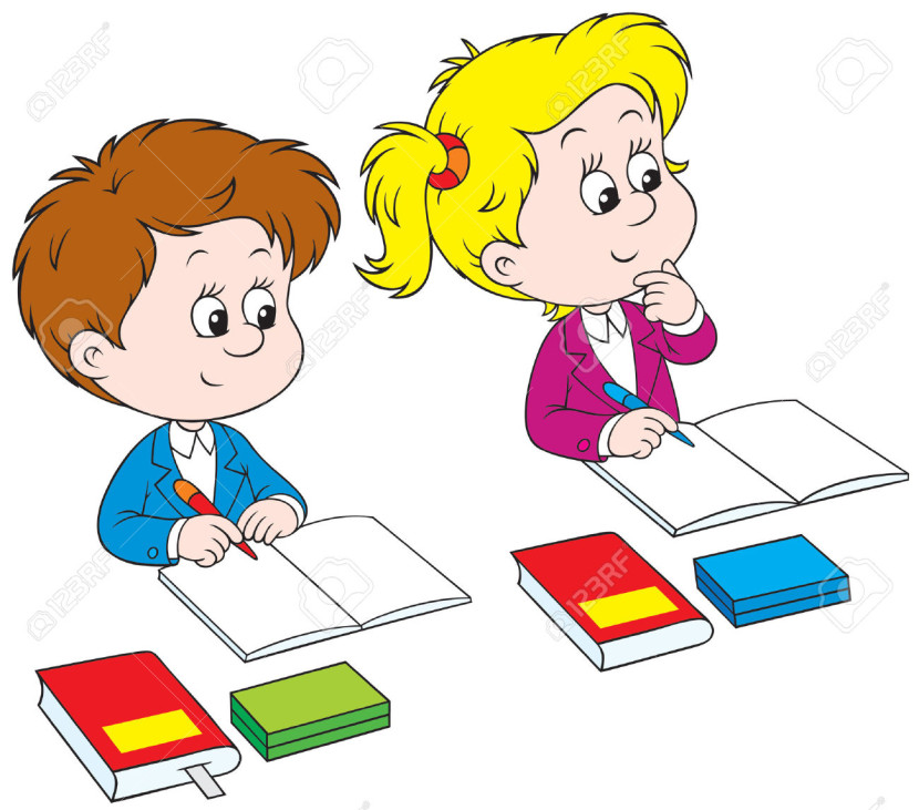 Kids Writing Clipart Schoolchildren Roya-Kids Writing Clipart Schoolchildren Royalty Free Cliparts Vectors And Stock-11
