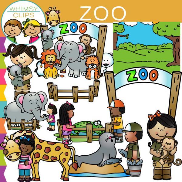 Kids Zoo Clip Art