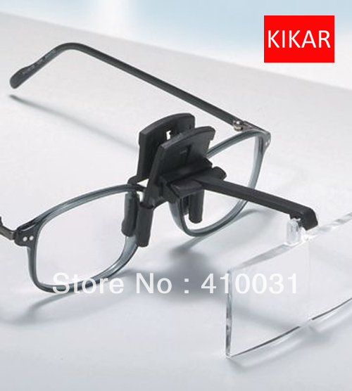 KIKAR Clip On Flip Up Glasses 4pc Foldin-KIKAR Clip on Flip up Glasses 4pc Folding Magnifier Reading Magnifying Hand Free Toys Jeweler Loop and Jewelry Loupe Hat Dental-16