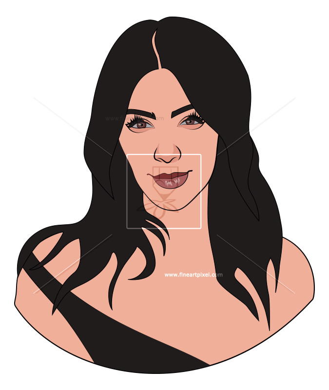 Kim Kardashian ClipartLook.co