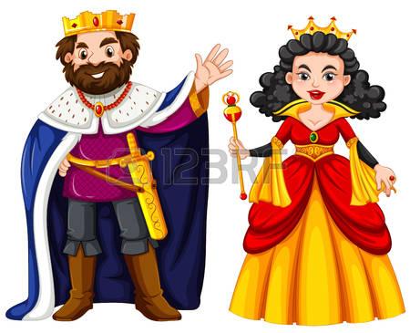 King And Queen: King And Queen With Happ-king and queen: King and queen with happy face illustration Illustration-9