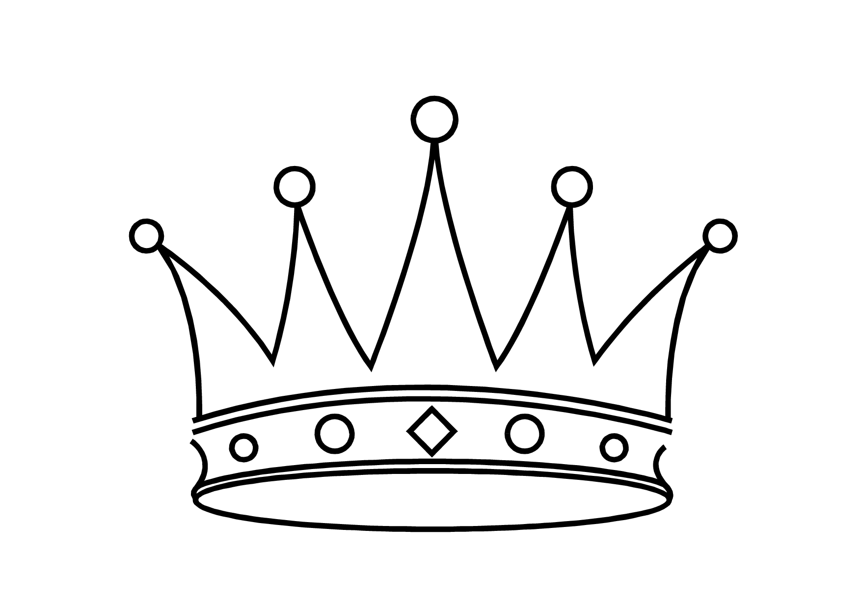 King Crown Outline Clipart #1