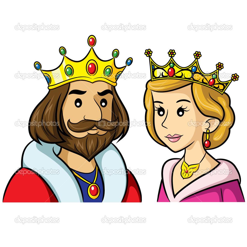 King Queen Cartoon U2014 Stock .-King Queen Cartoon u2014 Stock .-11