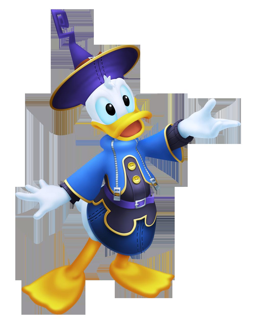 Donald Duck (Fantasia 3D) - Kingdom Hearts Clipart