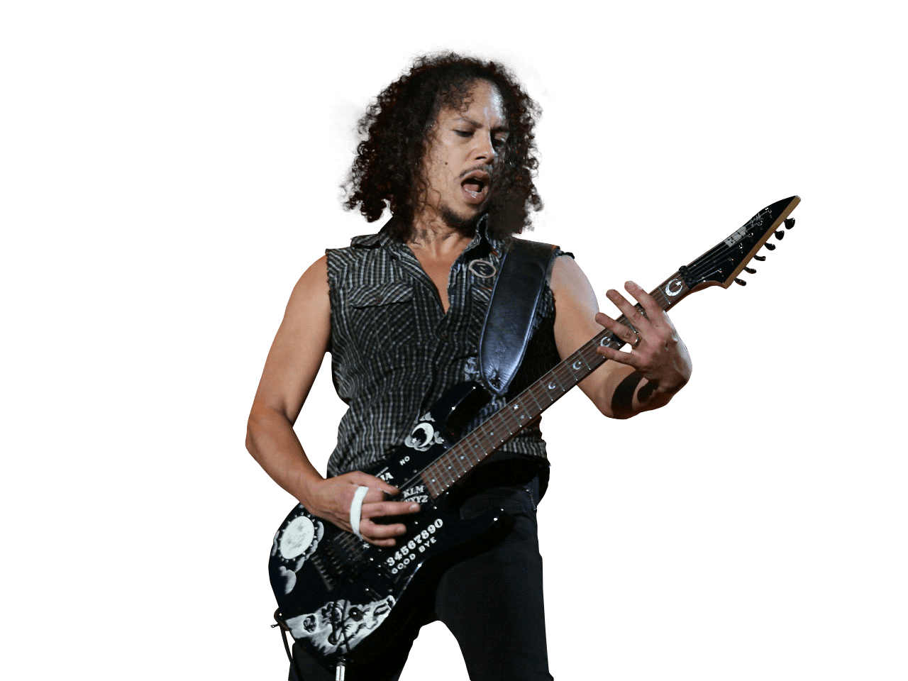 Kirk Hammett Playing