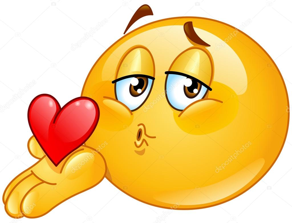 Blowing Kiss Male Emoticon U2014 Stock V-Blowing kiss male emoticon u2014 Stock Vector-1