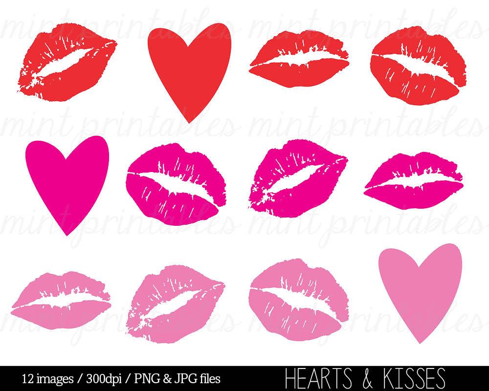 Kisses Clipart Clip Art Heart Clipart He-Kisses Clipart Clip Art Heart Clipart Hearts by mintprintables-10