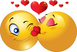 Kissing Couple Smiley Emoticon Clipart Royalty Free