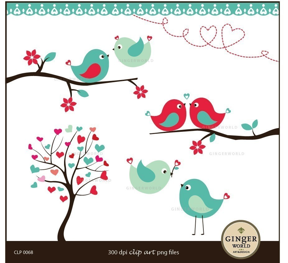 Kissing Love Birds Forest .-Kissing Love Birds Forest .-6