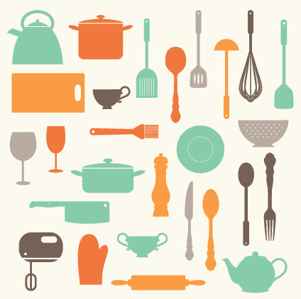 Kitchen Baking Utensils Clip Art Clipart Set Personal And Commercial