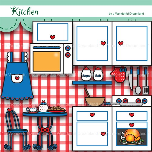 Kitchen Clip Art Printable Digital Clipa-Kitchen Clip Art Printable Digital Clipart-8