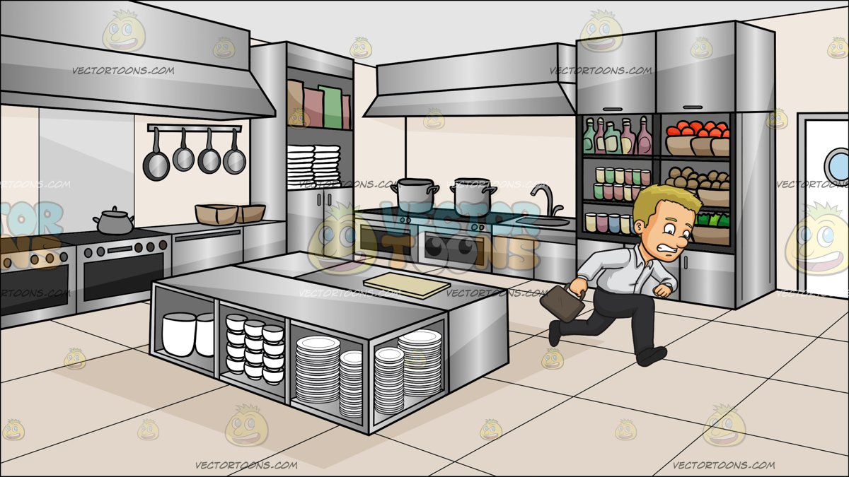 A Man Late For Work At A Kitchen Restaur-A Man Late For Work At A Kitchen Restaurant-0