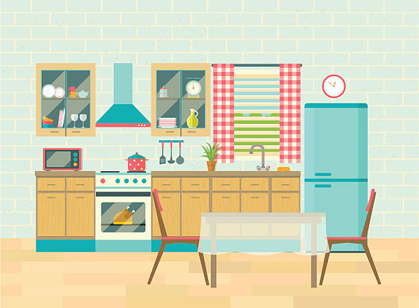 Pin Kitchen Clipart Scene Pen