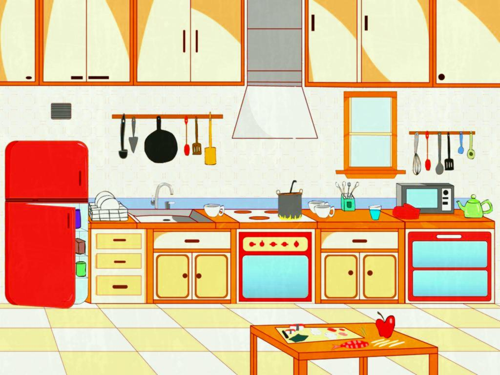 Pin Kitchen Clipart Scene Pen - Kitchen Clipart