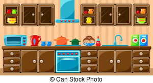 Stock Illustrationby Ganko26/1,499 Kitch-Stock Illustrationby Ganko26/1,499 Kitchen interior. Vector illustration-14
