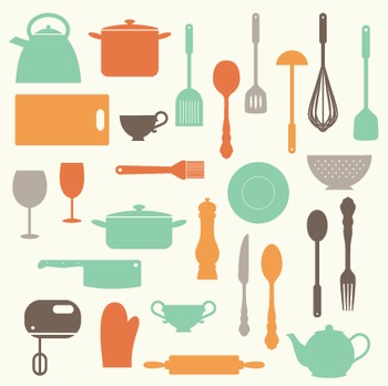 Kitchen Cooking Utensils .
