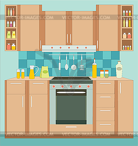 Kitchen Furniture Interior Vector Clipart