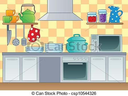 ... Kitchen theme image 1 - vector illus-... Kitchen theme image 1 - vector illustration.-4
