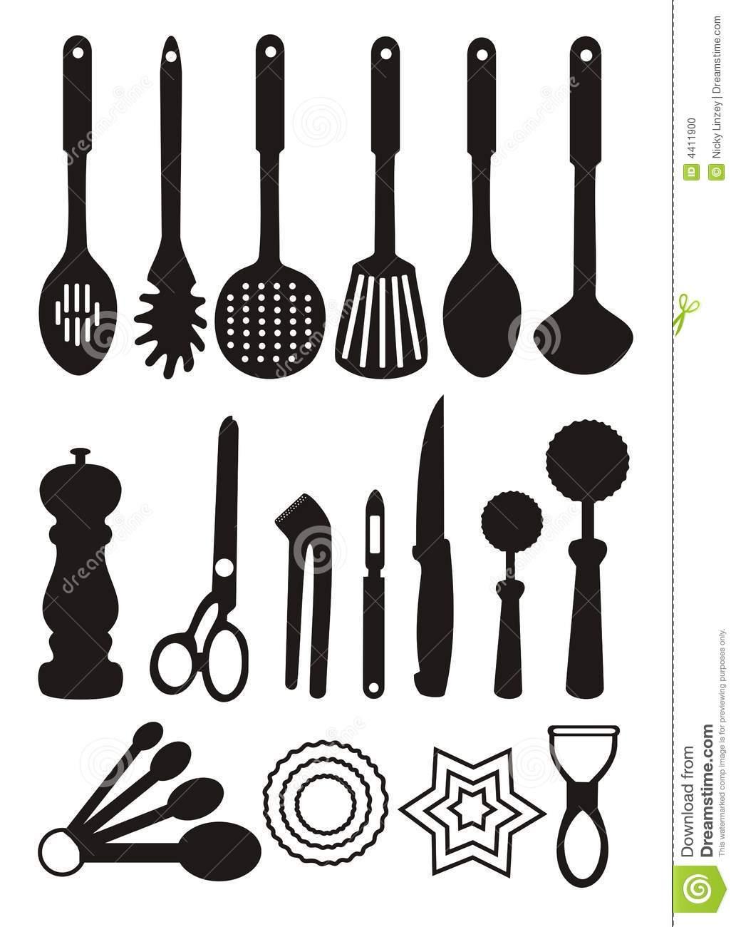 Bon 6+ Kitchen Utensils Clipart | ClipartLook