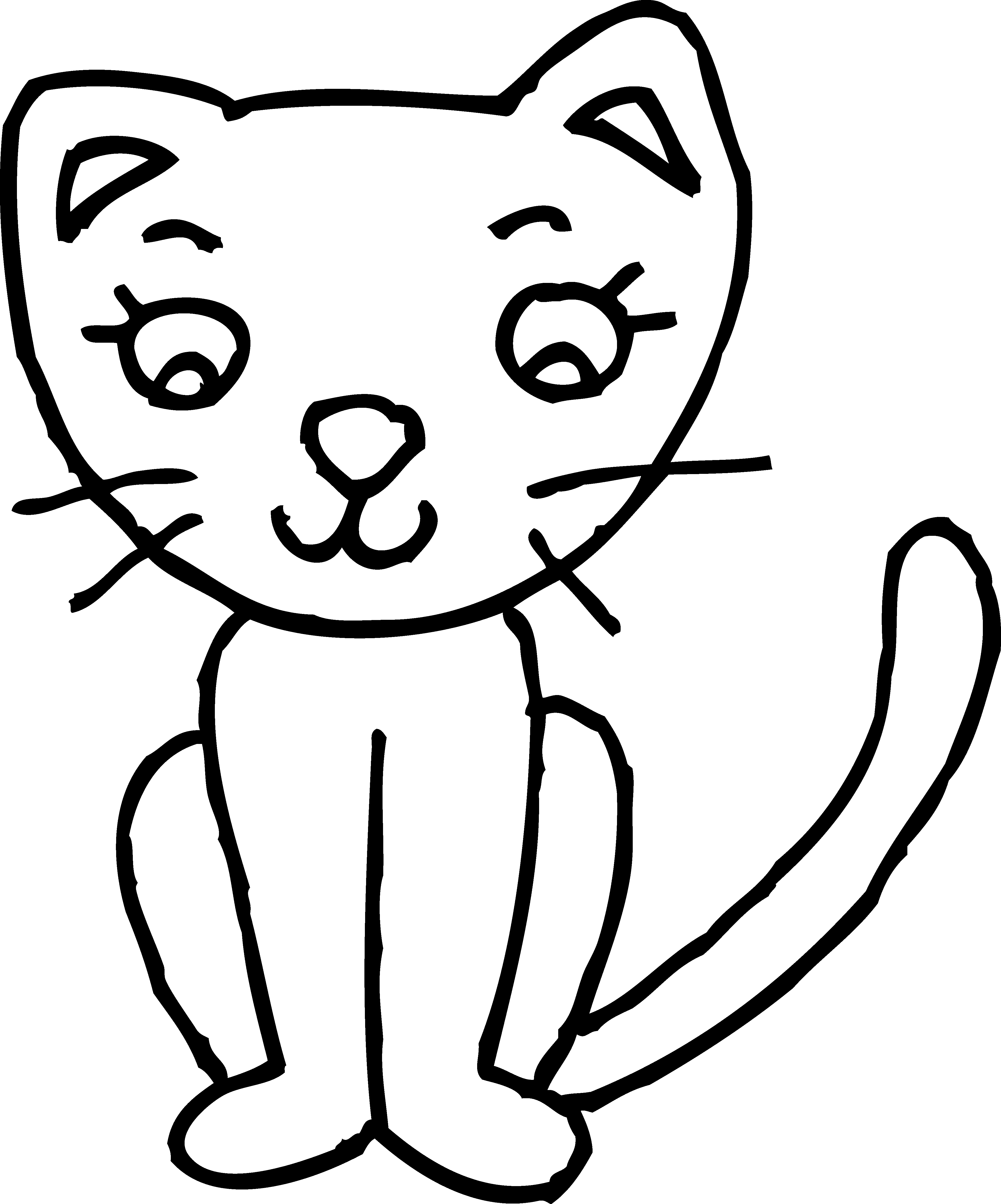 kitten playing clipart