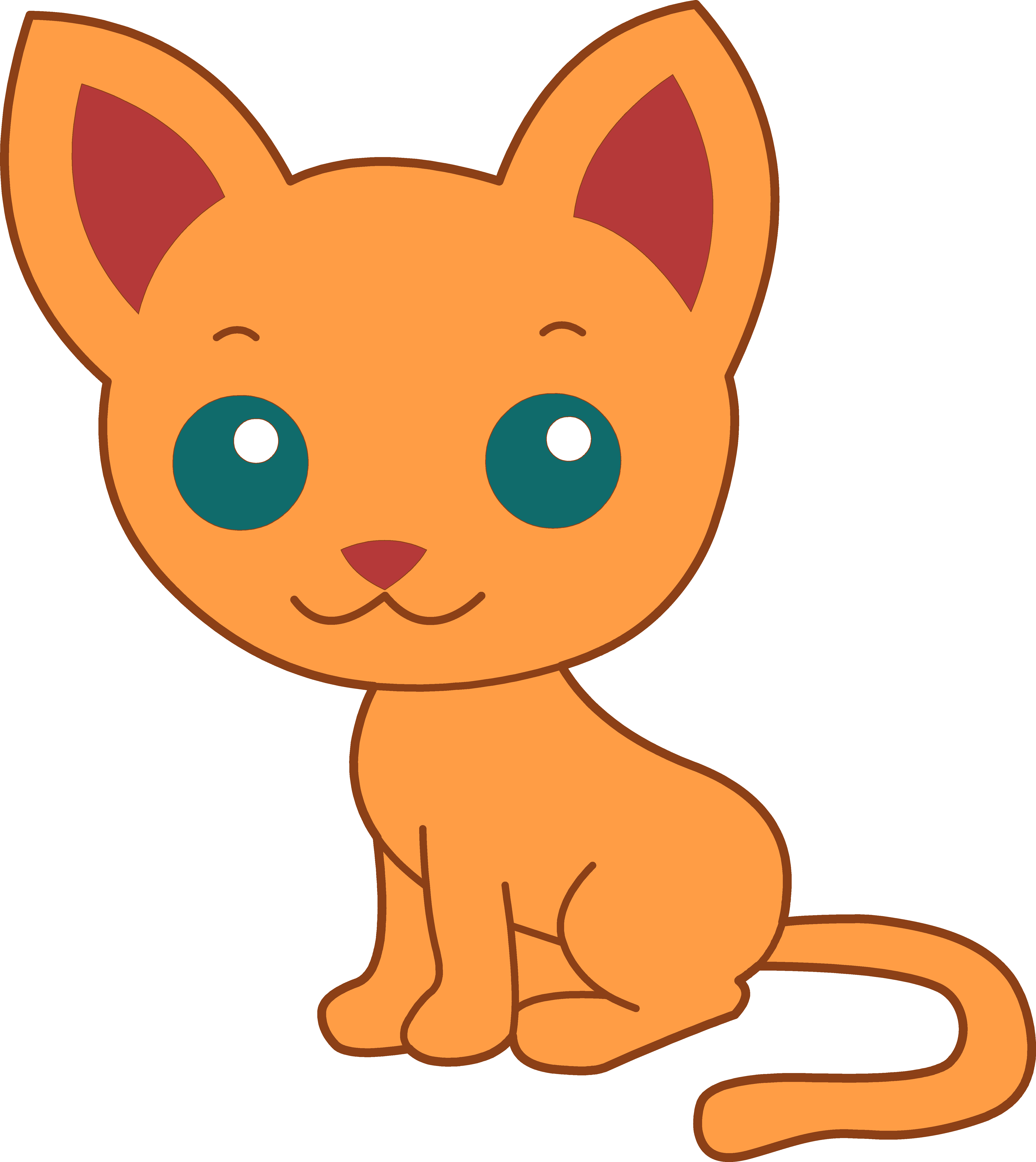Kitten Transparent PNG Clipar - Cute Kitten Clipart