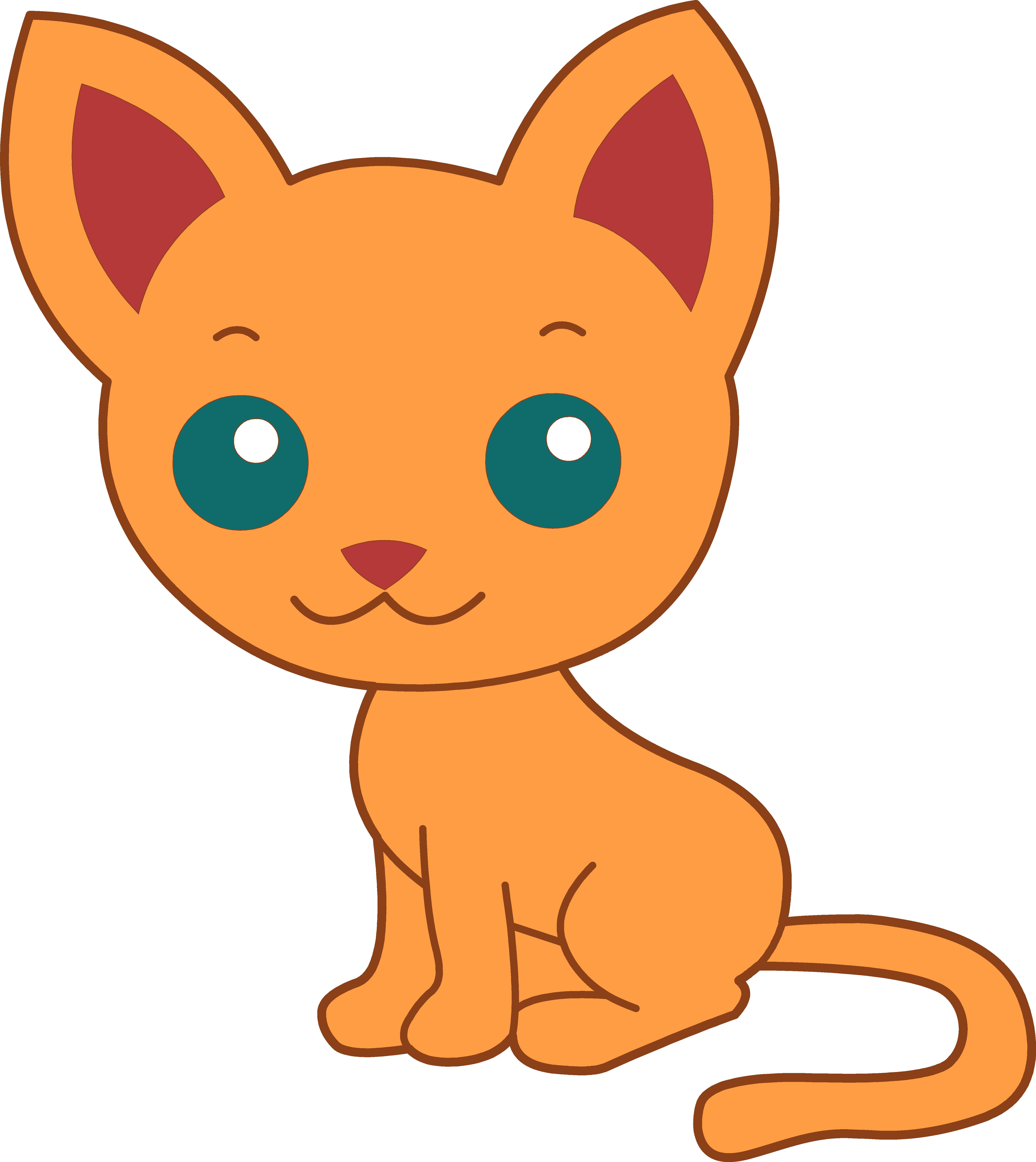 Cute cat clipart free - .