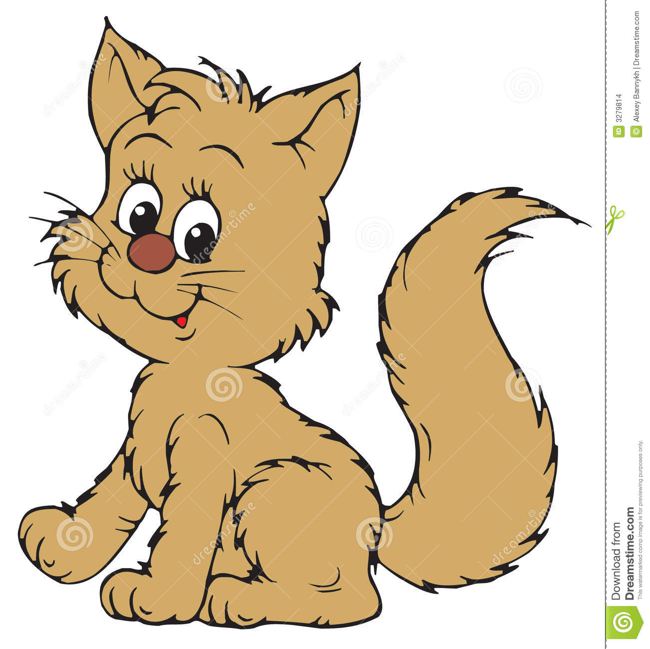 Kitten (vector clip-art)-Kitten (vector clip-art)-8