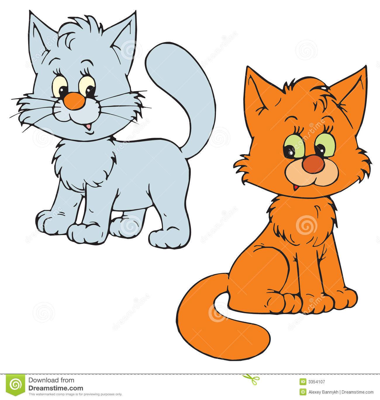 Kittens (vector clip-art) Royalty Free S-Kittens (vector clip-art) Royalty Free Stock Photography-15