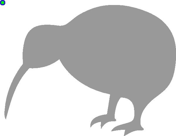 Grey Kiwi Bird Clip Art-Grey Kiwi Bird clip art-6